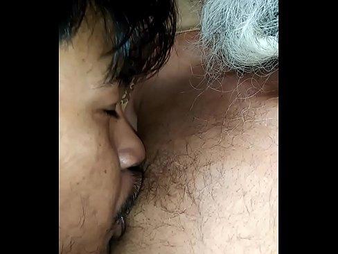 indian old man sucking