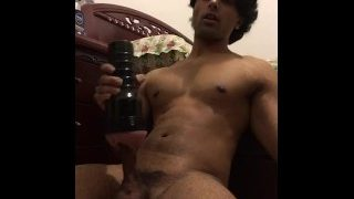Indian Cums when fucking silicone pussy tube