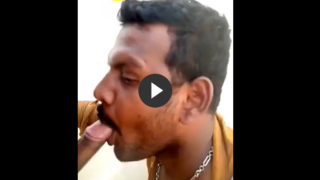 Public face fuck video of gay blowjob on rooftop