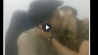 Gay mutual wank video of horny desi friends