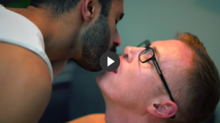 Interracial sex porn of white gay man with Indian top