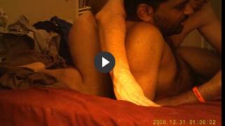 Interracial gay scene of white daddy fucking Indian man