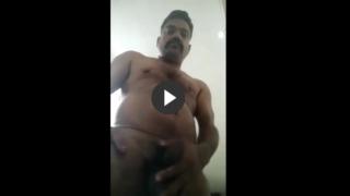 Wanking gay daddy cumming hard on cam